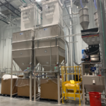 Surge Bin, Day Bin, Bulk Storage Hopper, Gaylord Filling, Gaylord Discharge, Container Filling, Container Fill, Vacuum Conveying, Material Blending, Plastics Storage
