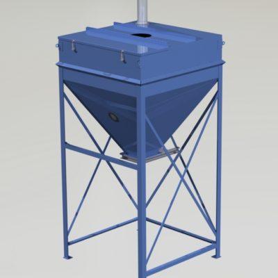 Surge Bin Day Bin Storage Hopper Vessel - 1
