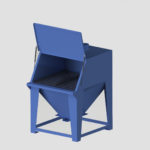 Bag Dump Station - Bag Break Bin. bulk bag unloading station