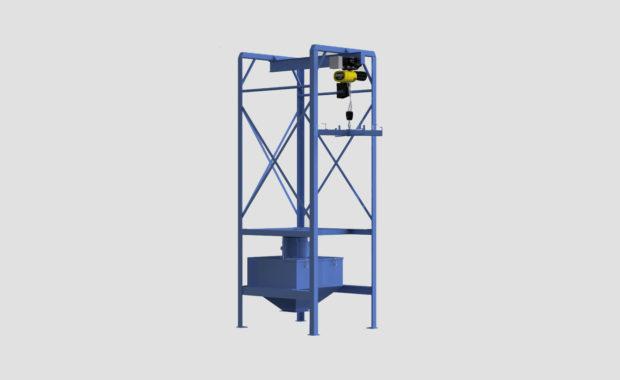 Bulk Bag Unloader - Super Sack Unloader - FIBC Unloader - 4,000lbs - Hoist - Ensign - Ensign Equipment -2