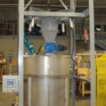 Bulk Bag unloader with slurry mix tank