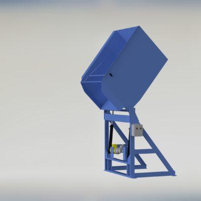 Extended Pivot Reliant Container Dumper - Reliant - Gaylord Dumper - Box Dumper - Tote Dumper - Cart Dumper - Model 37-6000 - Ensign - Ensign Equipment
