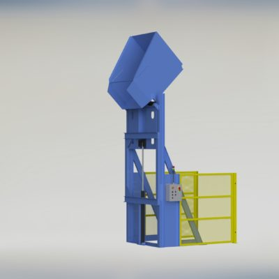 Lift and Dump - Gaylord Dumper - Box Dumper - Tote Dumper - Cart Dumper - Ensign - Ensign Equipment