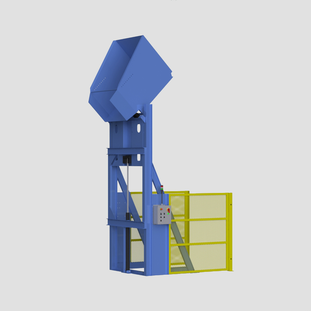 Lift and Dump - Gaylord Dumper - Box Dumper - Tote Dumper - Cart Dumper - Ensign - Ensign Equipment -3