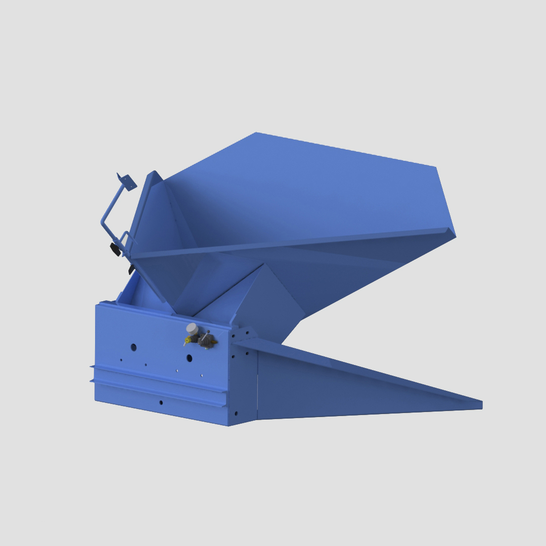 Pneumatic Bulk Box Gaylord Tilter - Container Tilter - Heavy Duty - Model 10-9000 - Ensign - Ensign Equipment - Air Operated -3