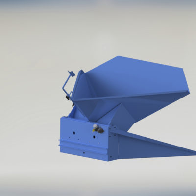 Pneumatic Bulk Box Gaylord Tilter - Container Tilter - Heavy Duty - Model 10-9000 - Ensign - Ensign Equipment - Air Operated