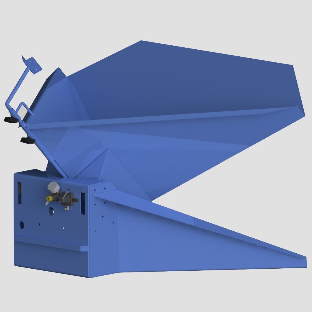 Pneumatic Bulk Box Gaylord Tilter - Container Tilter - Premier - Model 10-8500 - Ensign - Ensign Equipment - Air Operated -3