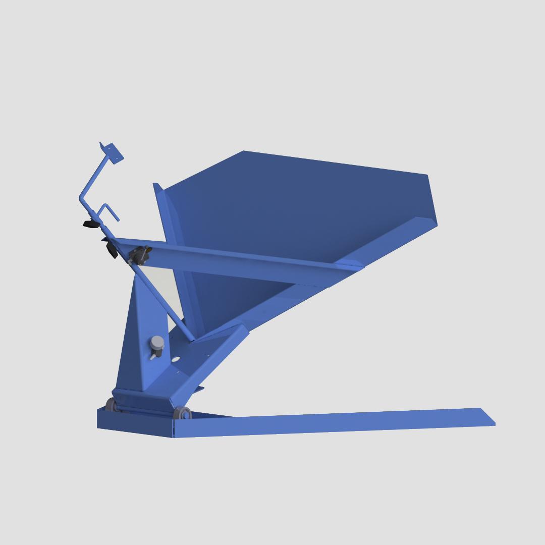 Pneumatic Bulk Box Gaylord Tilter - Container Tilter - Standard - Model 10-6000 - Ensign - Ensign Equipment - Air Operated -3