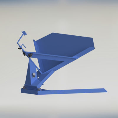 Pneumatic Bulk Box Gaylord Tilter - Container Tilter - Standard - Model 10-6000 - Ensign - Ensign Equipment - Air Operated