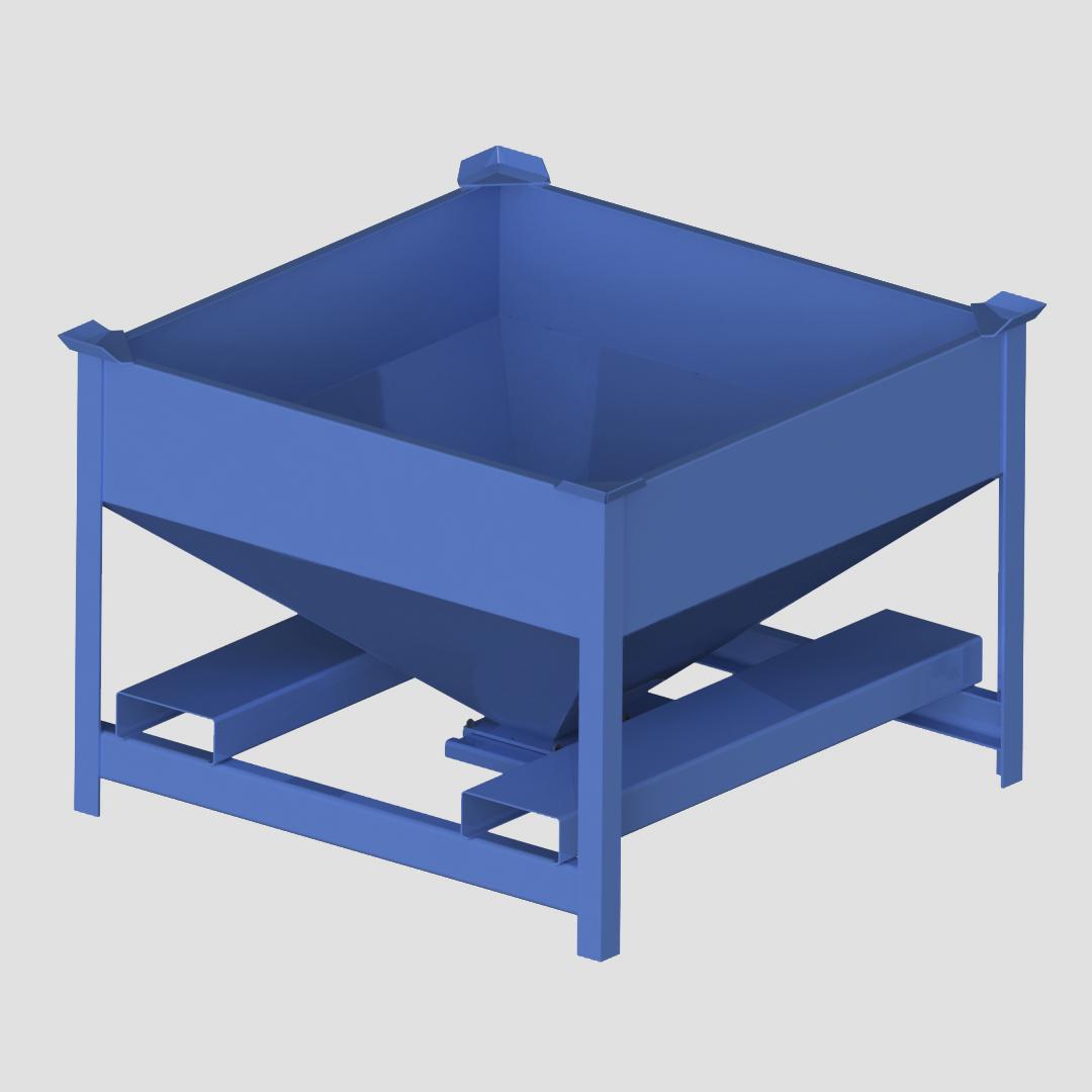 Portable Storage Bin - Porta-Stor - Portastor - Flow through bin - Mule - Mobile Hopper - Ensign - Ensign Equipment -3