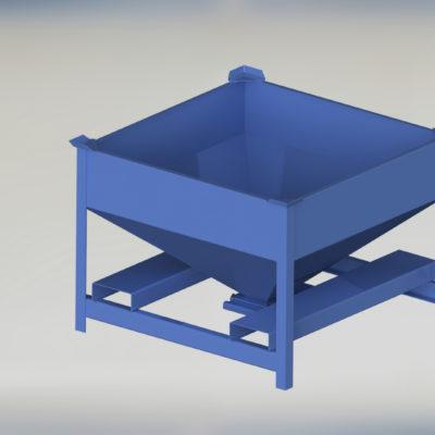Portable Storage Bin - Porta-Stor - Portastor - Flow through bin - Mule - Mobile Hopper - Ensign - Ensign Equipment