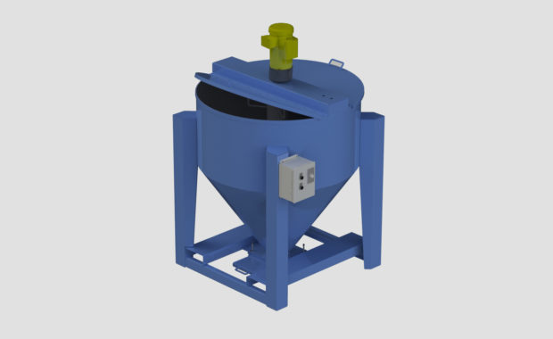 Portable Vertical Auger Batch Mixer for Bulk Material Mixing