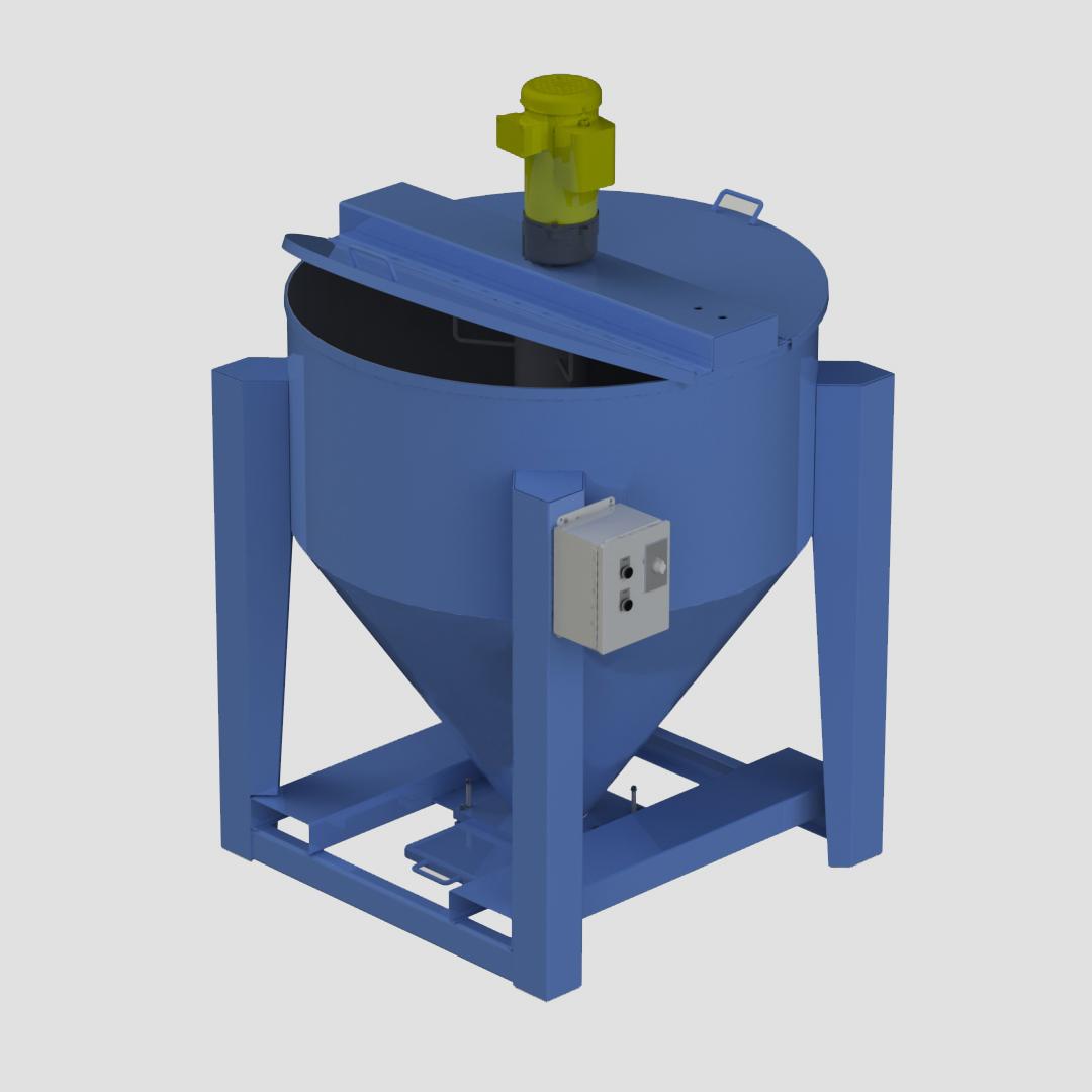 Portable Vertical Auger Mixer