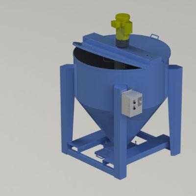 Portable Vertical Auger Mixer - Portable Batch Mixer - Blender - Portable Blender - Ensign - Ensign Equipment