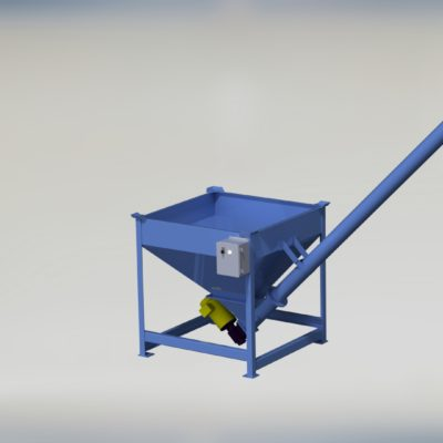 Power Hopper - Power Bin - Auger - Feeder - Mechanical Conveyor - Solid Core - Solidcore - Flex - Helix - Screw - Ensign - Ensign Equipment