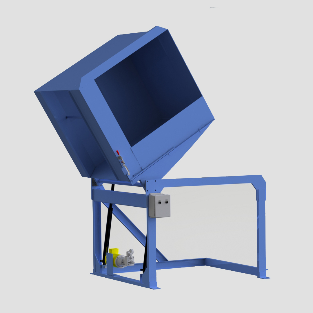 Side Load Container Dumper - Reliant - Gaylord Dumper - Box Dumper - Tote Dumper - Cart Dumper - Model 32-4800 - Ensign - Ensign Equipment -2