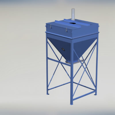 Stationary Surge Bin - Day Bin - Intermediary Storage Bin - Container - Ensign - Ensign Equipment