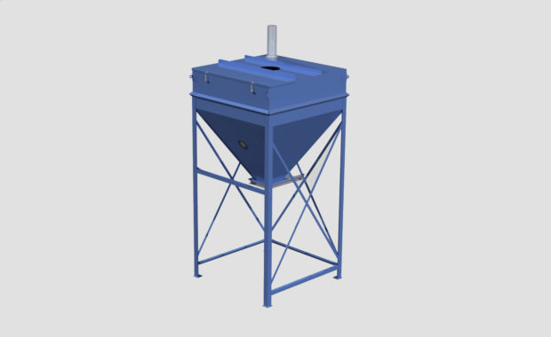 Stationary Surge Bins - Day Bin - Intermediary Bulk Storage Bins - Container