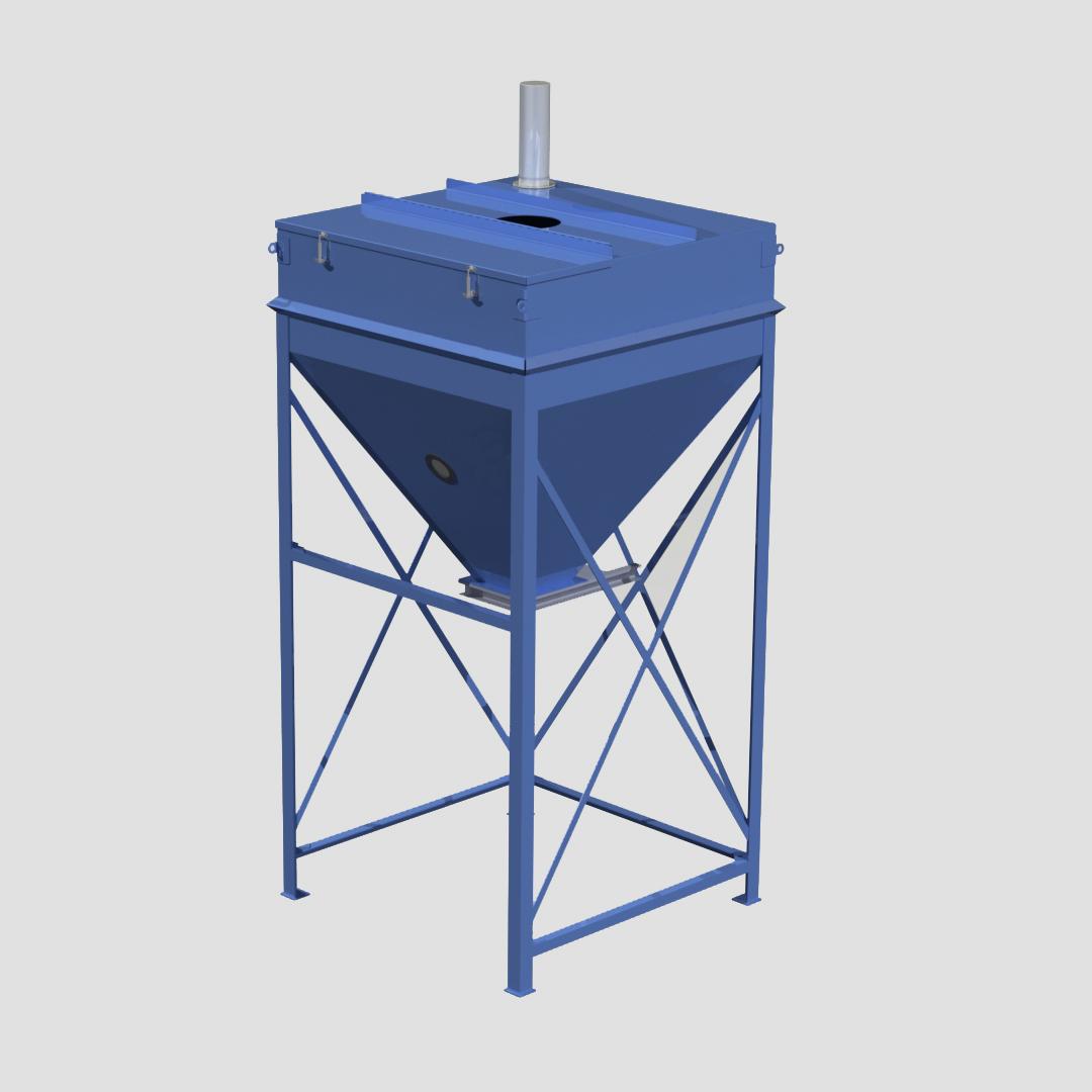 Stationary Surge Bin - Day Bin - Intermediary Storage Bin - Container - Ensign - Ensign Equipment -3