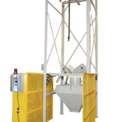 Bulk Unloader with safety cage