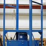 Fork Lift Bulk Bag Unloader 50-2000 with Receiving Hopper and Vaccuum Takeaway Box