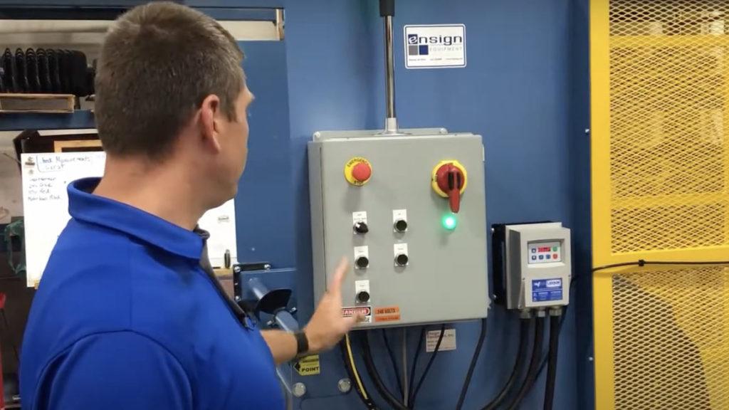 Operator at Reliant Dumper Control Panel