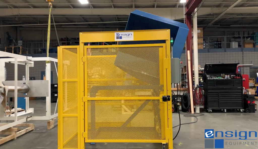 Side Load Dumper With Safety Screen With Swing Door an Automated Controls Package