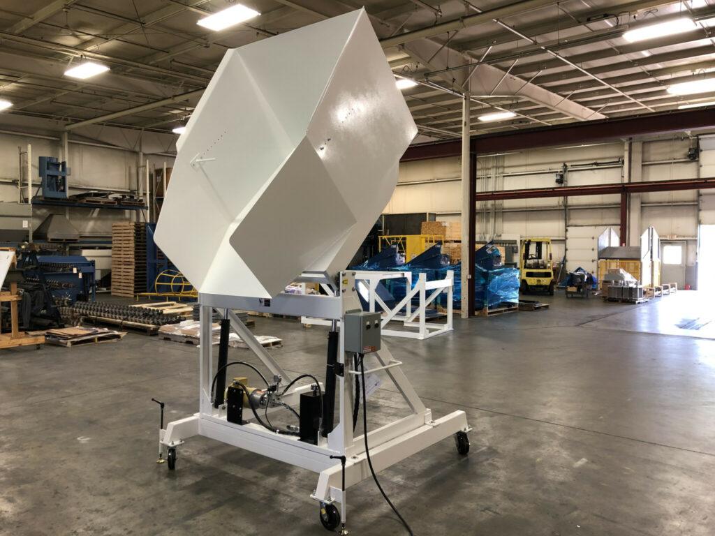 Ensign Equipment Portable Gaylord Dumper Caster Frame, Container Box Dumper
