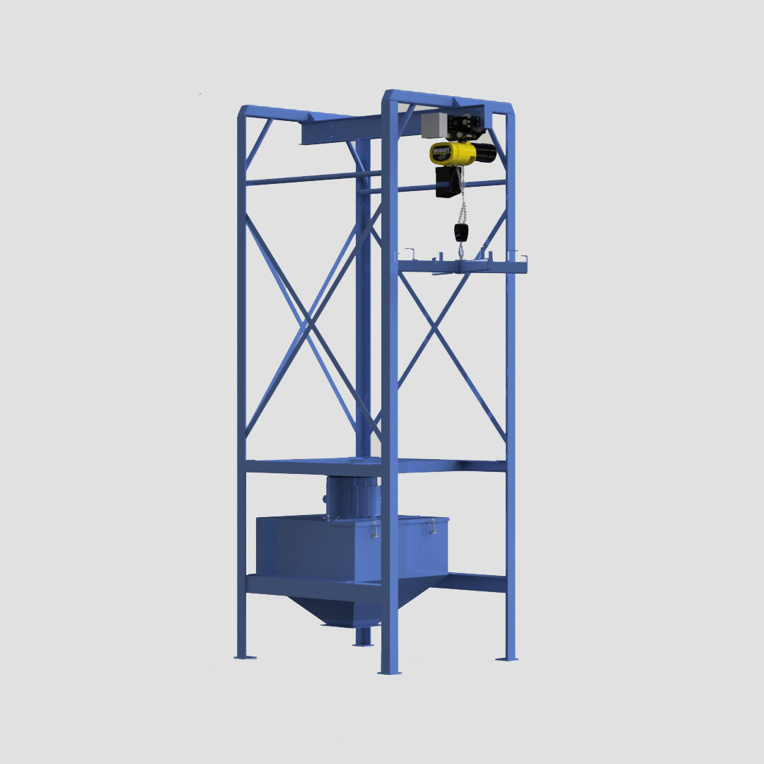 Bulk Bag Unloader - Super Sack Unloader - FIBC Unloader - 4,000lbs - Hoist - Ensign - Ensign Equipment -3